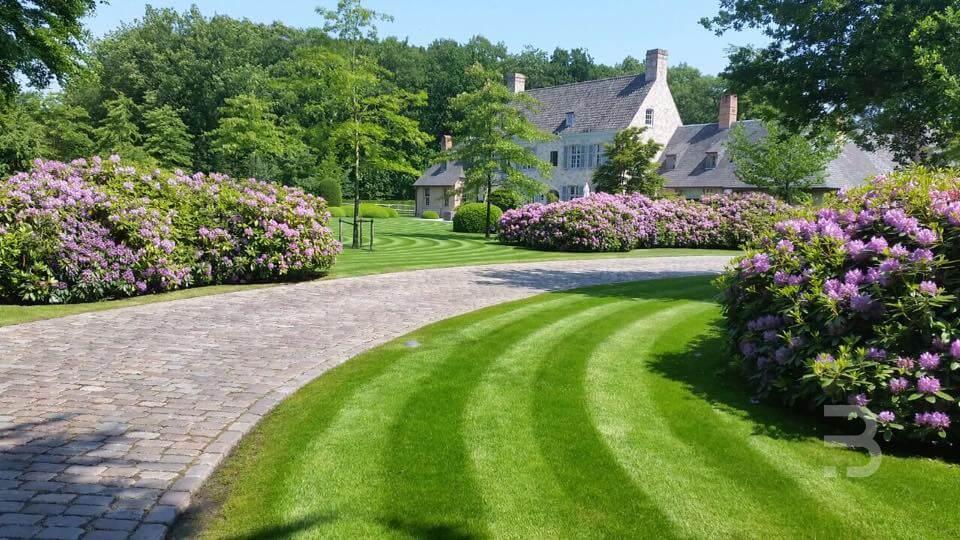 Afbeelding project Landelijke tuin met vijver en schapenweide rond prachtig landgoed
