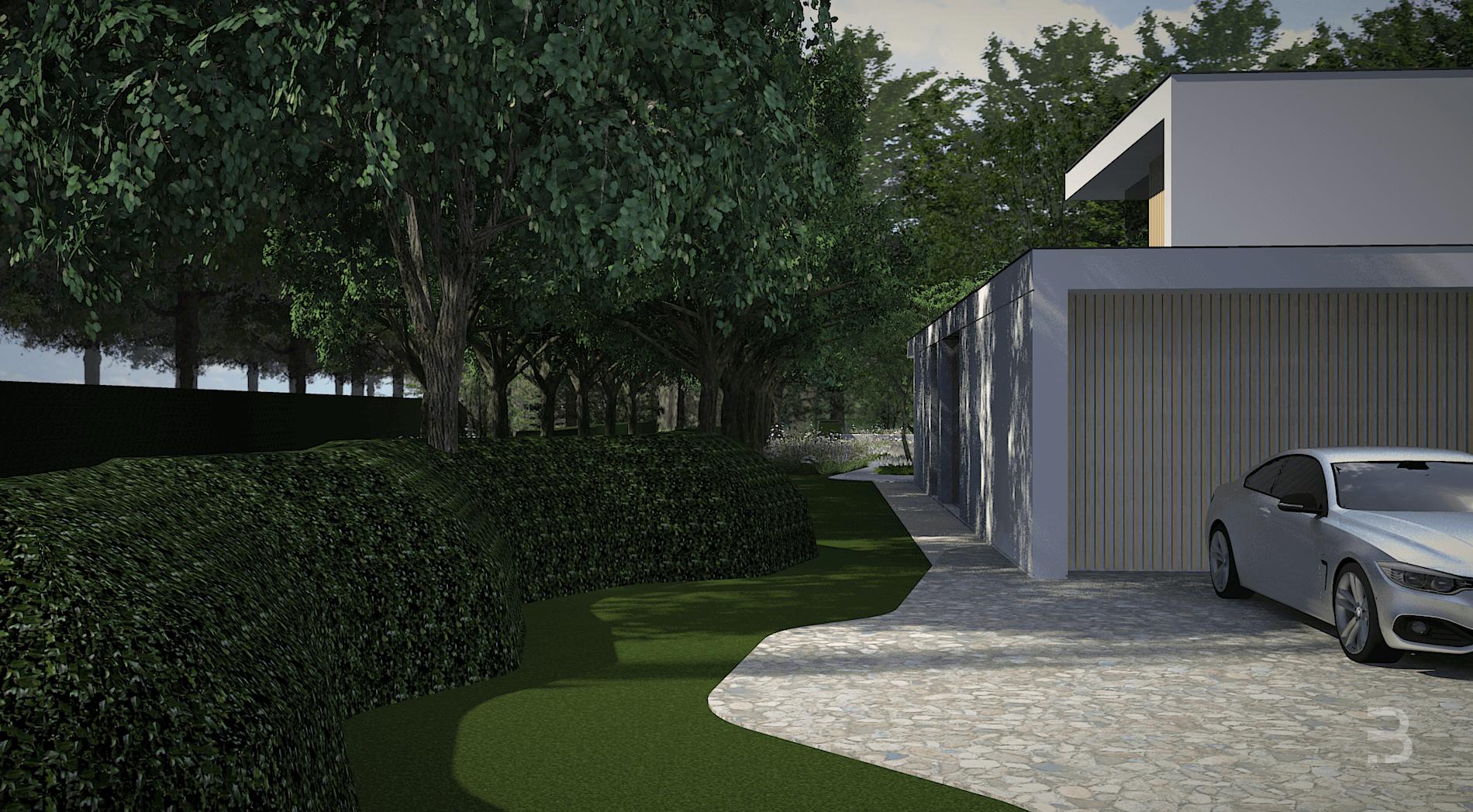 Afbeelding project Villatuin in bosrijke omgeving