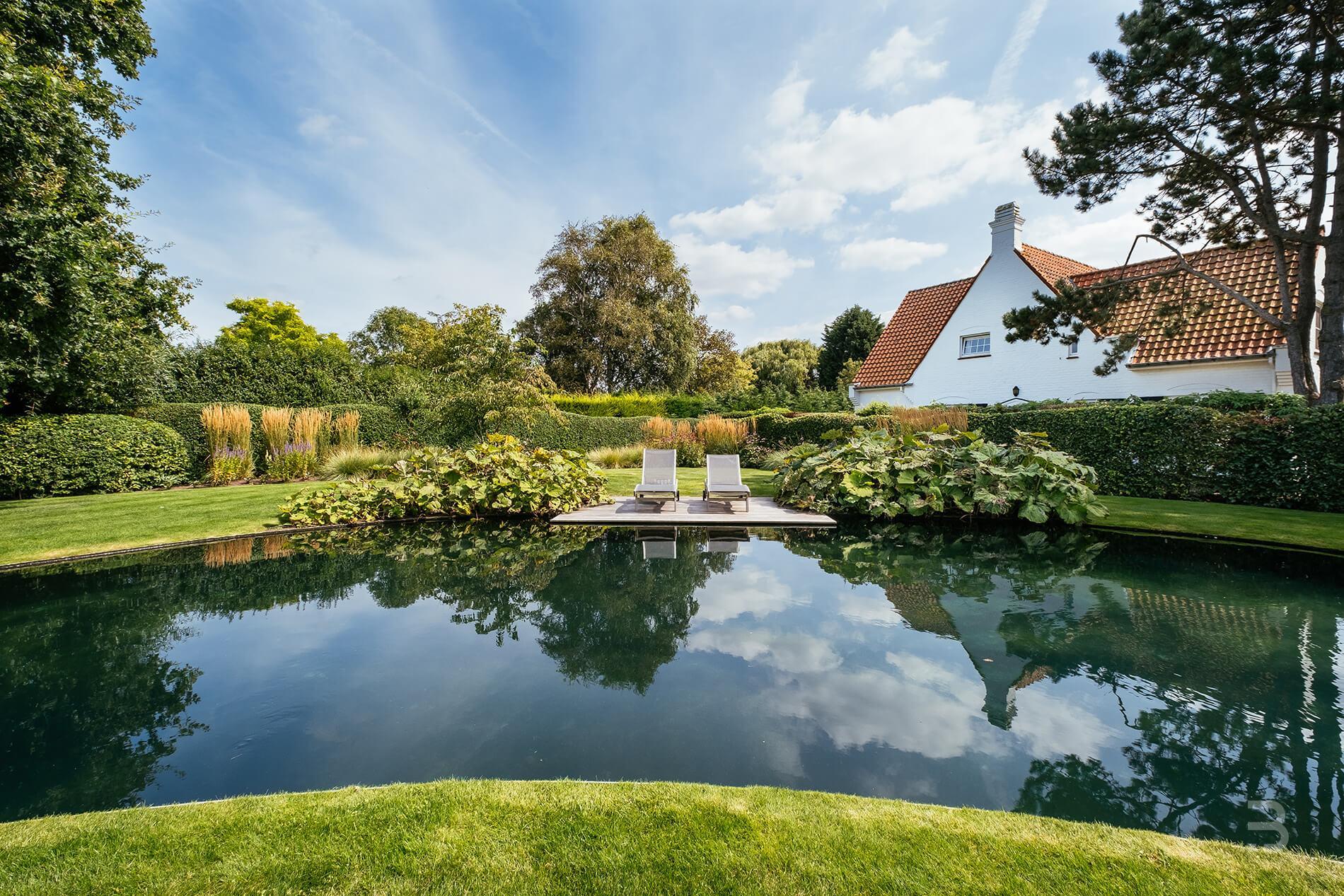 Afbeelding project Landelijke tuin met druppelvormige zwemvijver