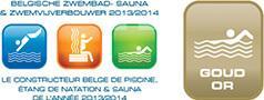 Logo Belgische zwembad-, sauna- & zwemvijverbouwer 2013/2014